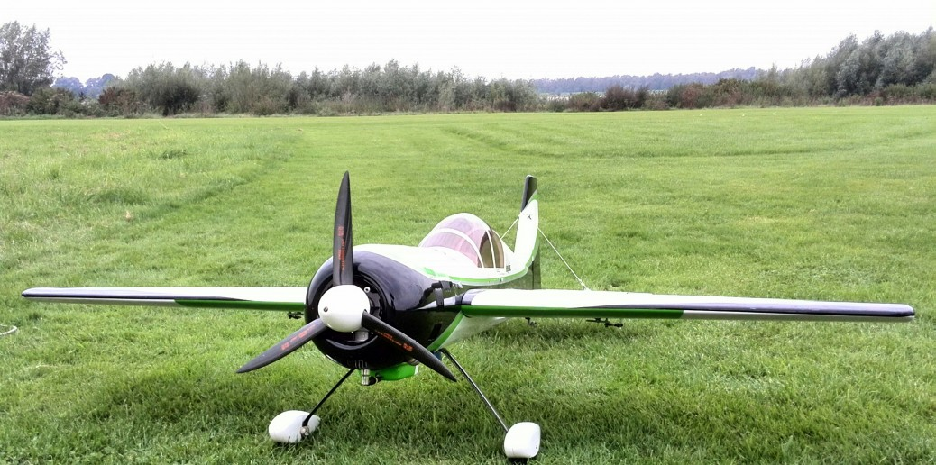 RC-Pilot 73¨ Yak with DLE30 and silent prop at Herwen in the Netherlands.